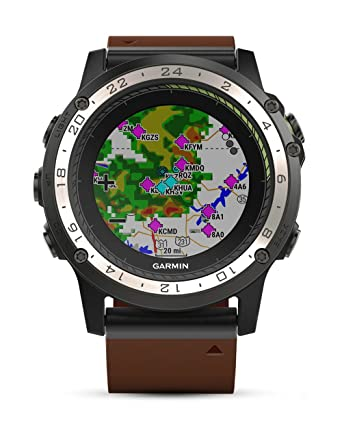 Montre GPS aviation Garmin D2 Charlie Cuir - 010-01733-31: Amazon.fr: High-tech