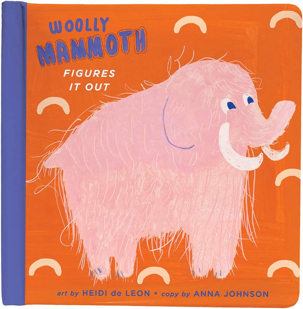 Manhattan Toy Woolly Mammoth Padded Cover Baby and Toddler Board Book