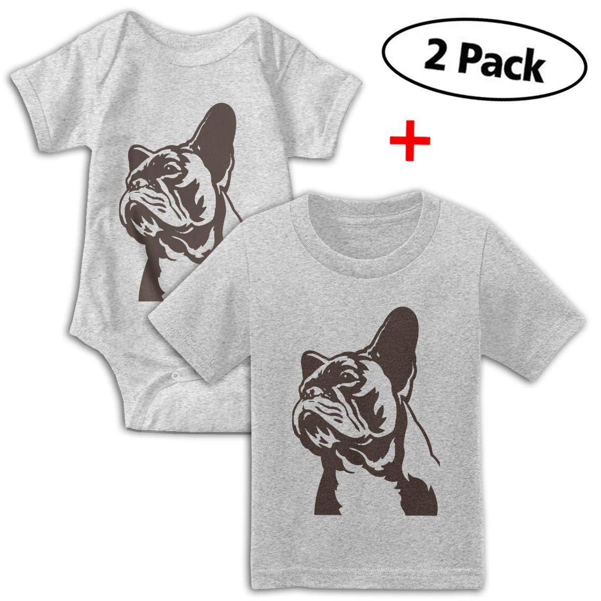 KAYERDELLE French Bulldog Babys Boys /& Girls Short Sleeve Baby Climbing Clothes and Tee