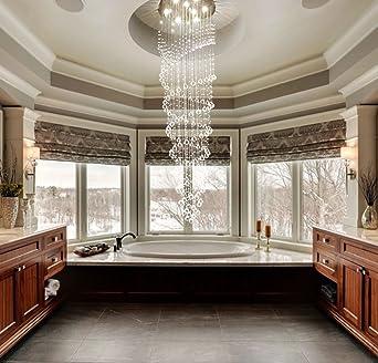 saint mossi modern k9 crystal raindrop chandelier lighting flush mount led ceiling light fixture pendant lamp - Led Ceiling Lights For Living Room
