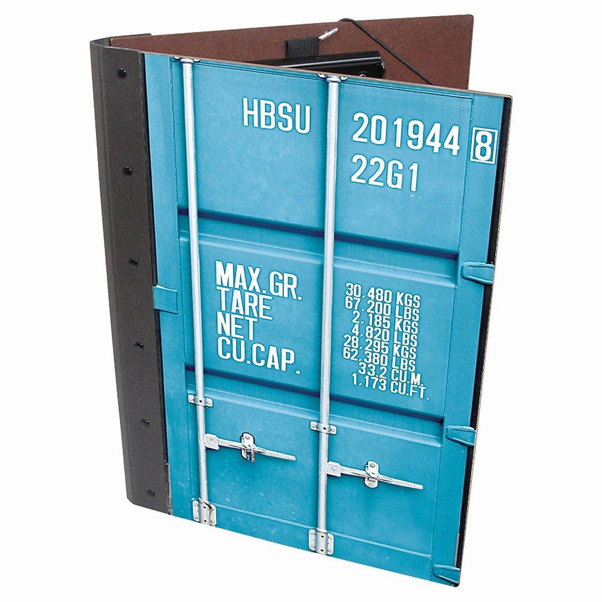 Werkhaus CO1053 T/ürkis Mappe mit Cliphalter in Container-Optik