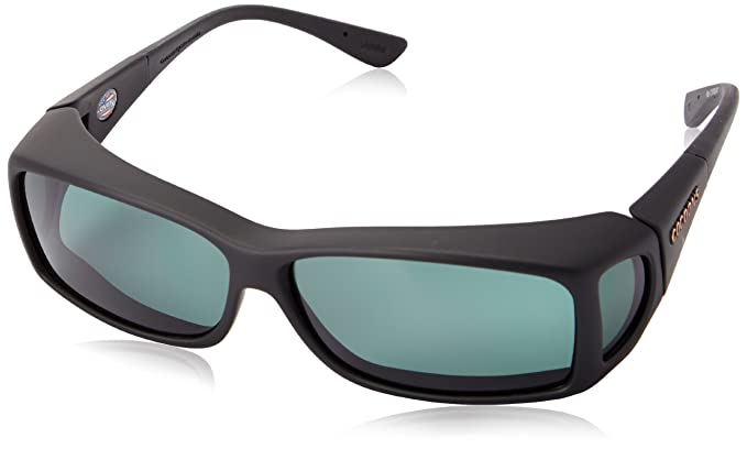 f9e8a5287e Cocoons C422G Black with Grey Wide Line Wrap Sunglasses Polarised  Amazon.co .uk  Clothing