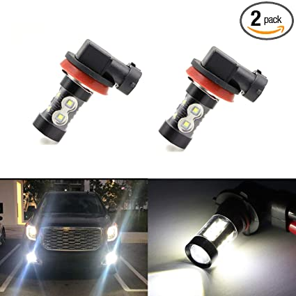 H11 H8 H16 Fog Light Bulbs Led 50w Ultra Extremely Bright 6000k 10 Smd White Xenon Low High Beam Bulbs Lamps Pack Of 2