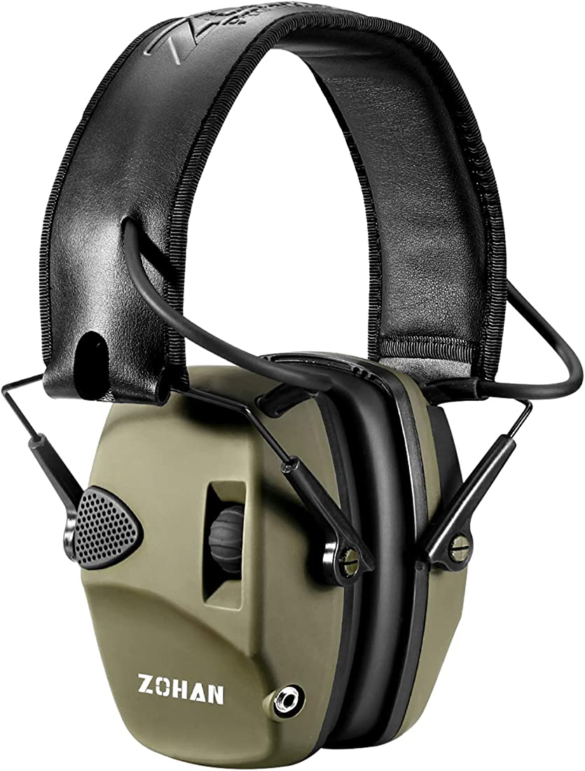 Cuffie poligono elettroniche per tiro al piattello, 27db snr riduzione del rumore, zohan 054 B07KW19QCL