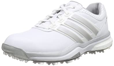 finest selection 09820 07565 adidas Damen Adipower Boost 2 Golfschuhe Weiß (WhiteMatte Dark Silver  Metallic),