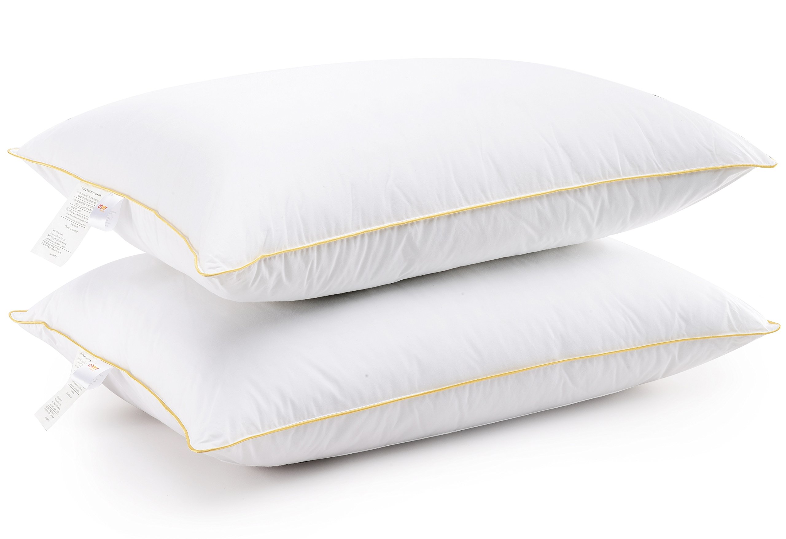 Cheer Collection Set of 2 Hotel Quality Extra Plush Luxurious Gel Fiber Filled King Size Bed Pillows, 20'' x 36''