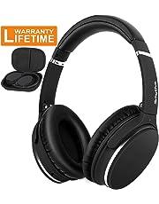 Auriculares Bluetooth Inalámbricos Cancelacion Ruido Activa -Srhythm NC25- Noise Canceling Cascos Super Ligero 180g Plegable Hi-Fi Deep Bass con Enchufe Adaptador de Avión
