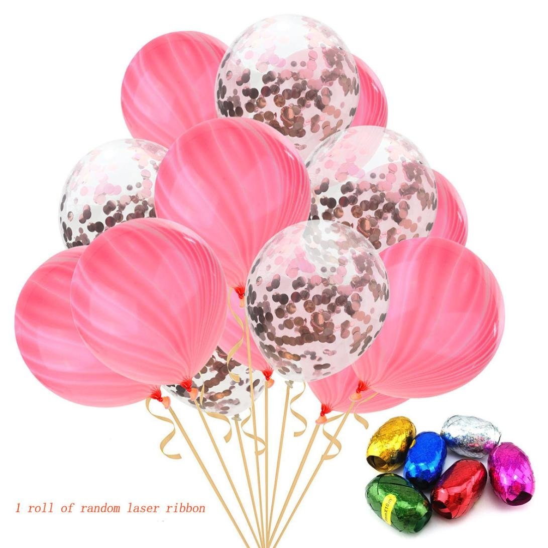 TAOtTAO 15 Piezas/Lote de ágata de Mármol de Látex 12 Pulgadas Globo Fiesta Cumpleaños Decoración Baby Show, C, Balloon:12 Inches: Amazon.es: Deportes y ...