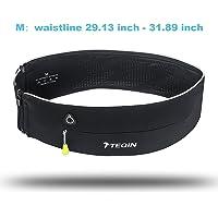 TEQIN Running Belt Waist Pack Zipper Non-Slip Reflective Fanny Pack Unisex Universal Outdoor Sports Exercise Storage Waistband for All Phones, Keys, Cash Card, Trekking, Biking, Trail Walking