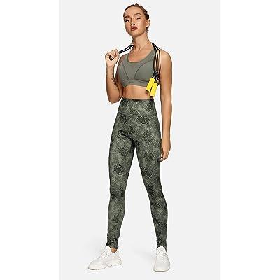 QUEENIEKE Women Yoga Leggings Tummy Control 3.5-Inch Waist Workout Pants Running Peach Hip 8207