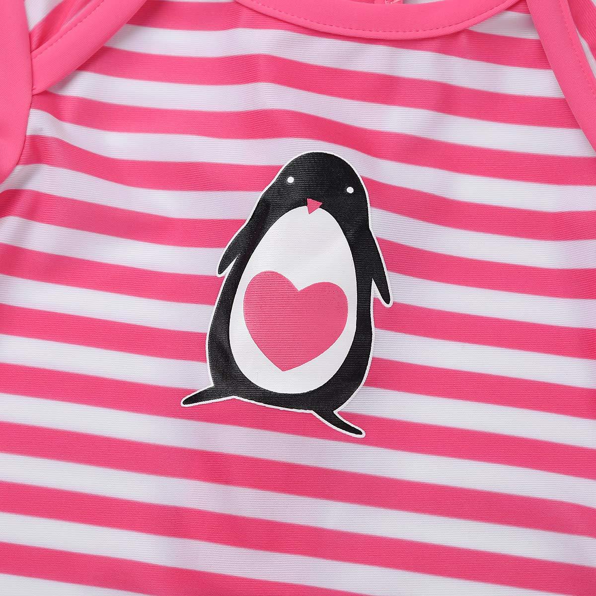 Agoky Infant Baby Boys Girls One-Piece Stripe Swimsuit Swimwear Rash Guard Bathing Suit