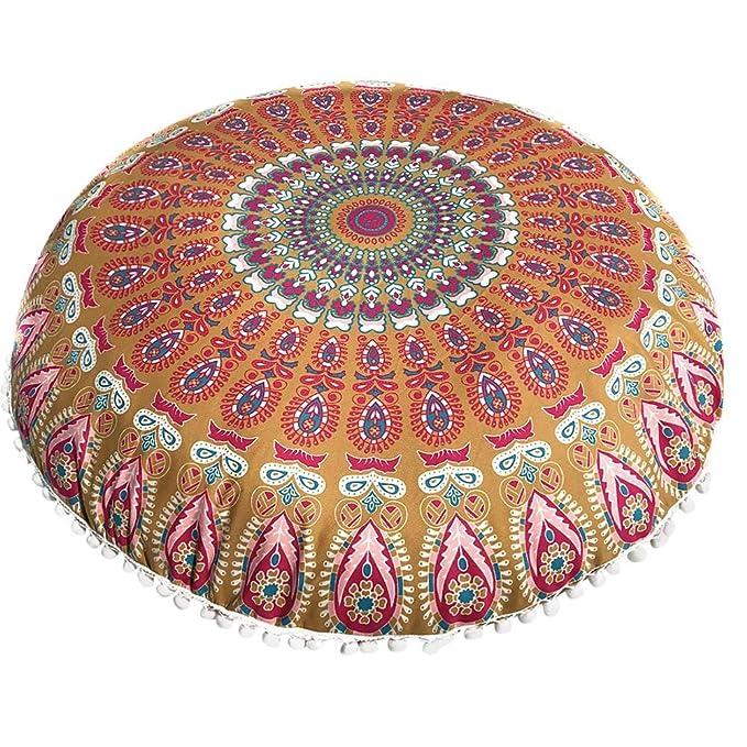 Longra ☂☂❤️❤️ Indian Mandala Floor Almohadas Redondas ...