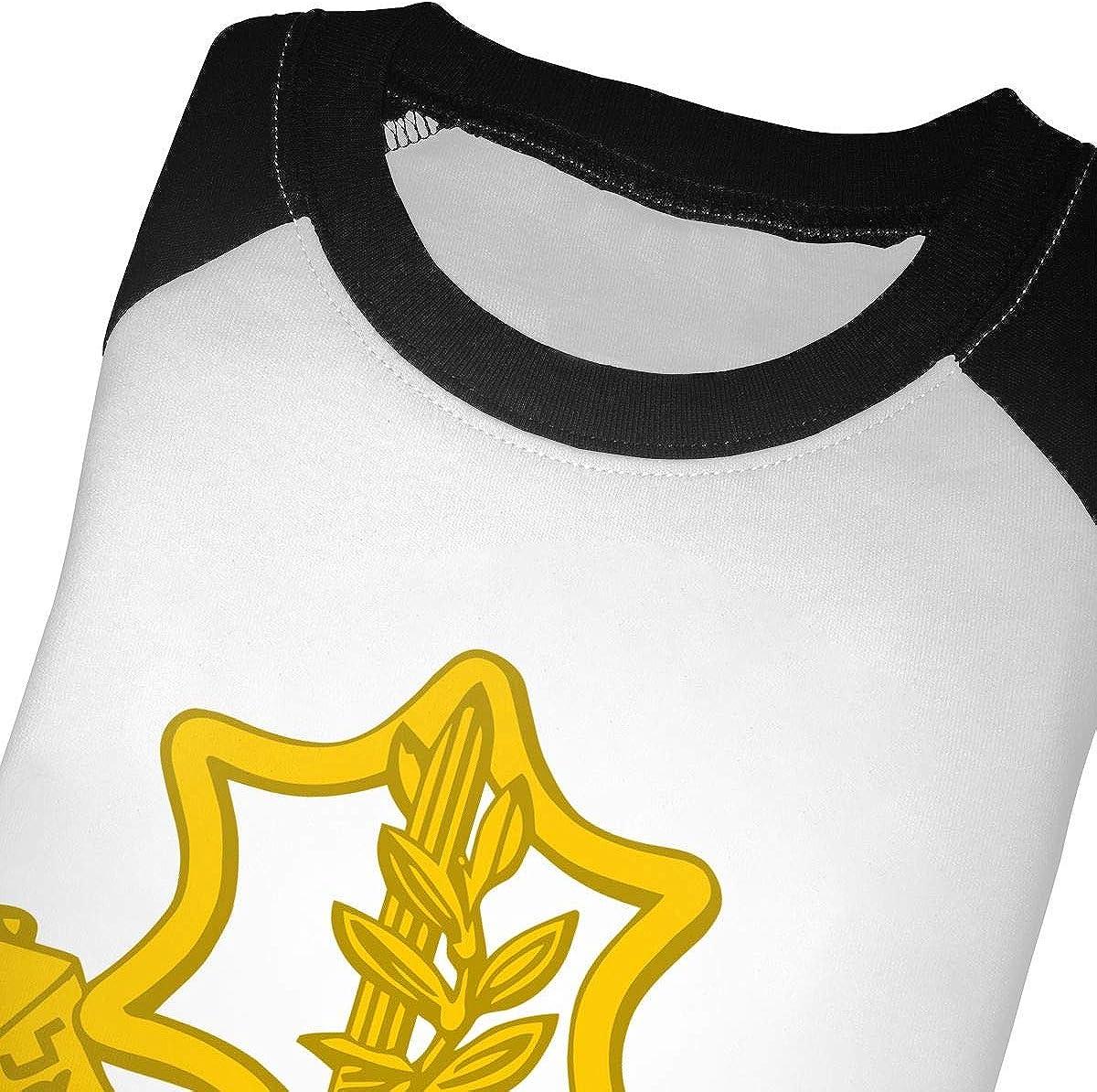The IDF Logo Kids Jersey Raglan T-Shirt Children 3//4 Sleeve Baseball Shirt Top