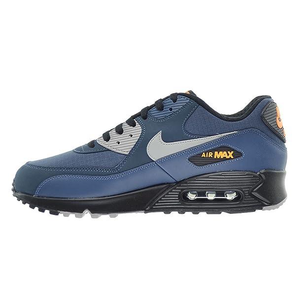 b01228441b Nike Air Max 90 Essential Men's Shoes Squadron Blue/Flight Silver/Black  537384-413 (9 D(M) US): Amazon.ca: Shoes & Handbags