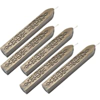 Wax Seal Sticks, Yoption 5 Pcs Totem Fire Manuscript Sealing Seal Wax Sticks with Wicks Cord Wick Sealing Wax for…