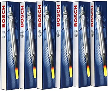 UKB4C Bosch Glow Plug GLP043 0250203001 x6 Set of 6