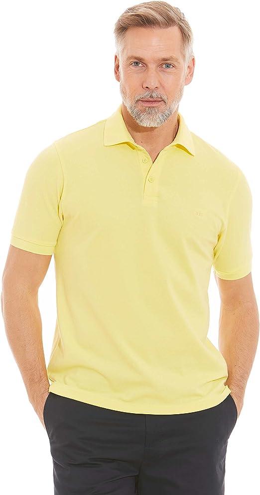 Savile Row Mens Yellow Cotton Pique Polo Shirt XXXL: Amazon.es ...