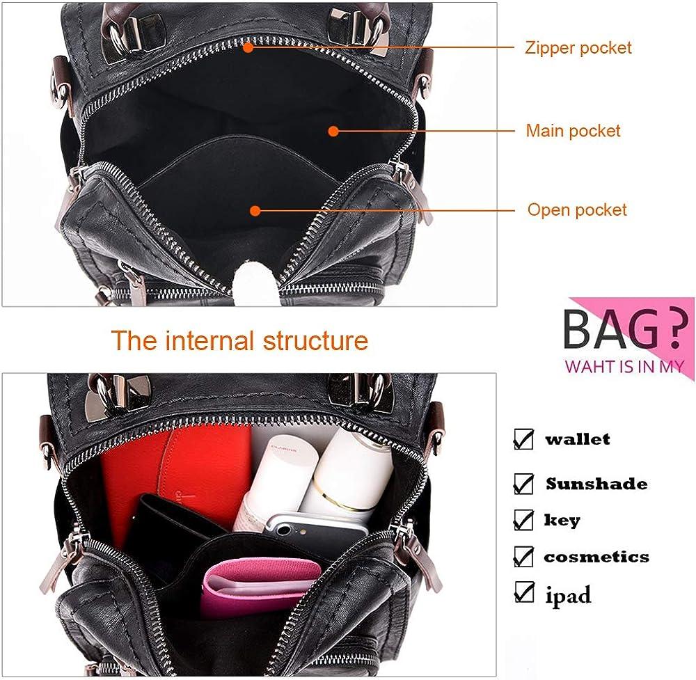 SiMYEER Womens Leather Fashion Backpack Purse Rucksack Waterproof Shoulder Bag School Casual Daypack for Ladies