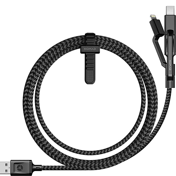 Nomad Ultra Rugged Universal Micro Usb/Usb Type C/Lightning Cable by Nomad
