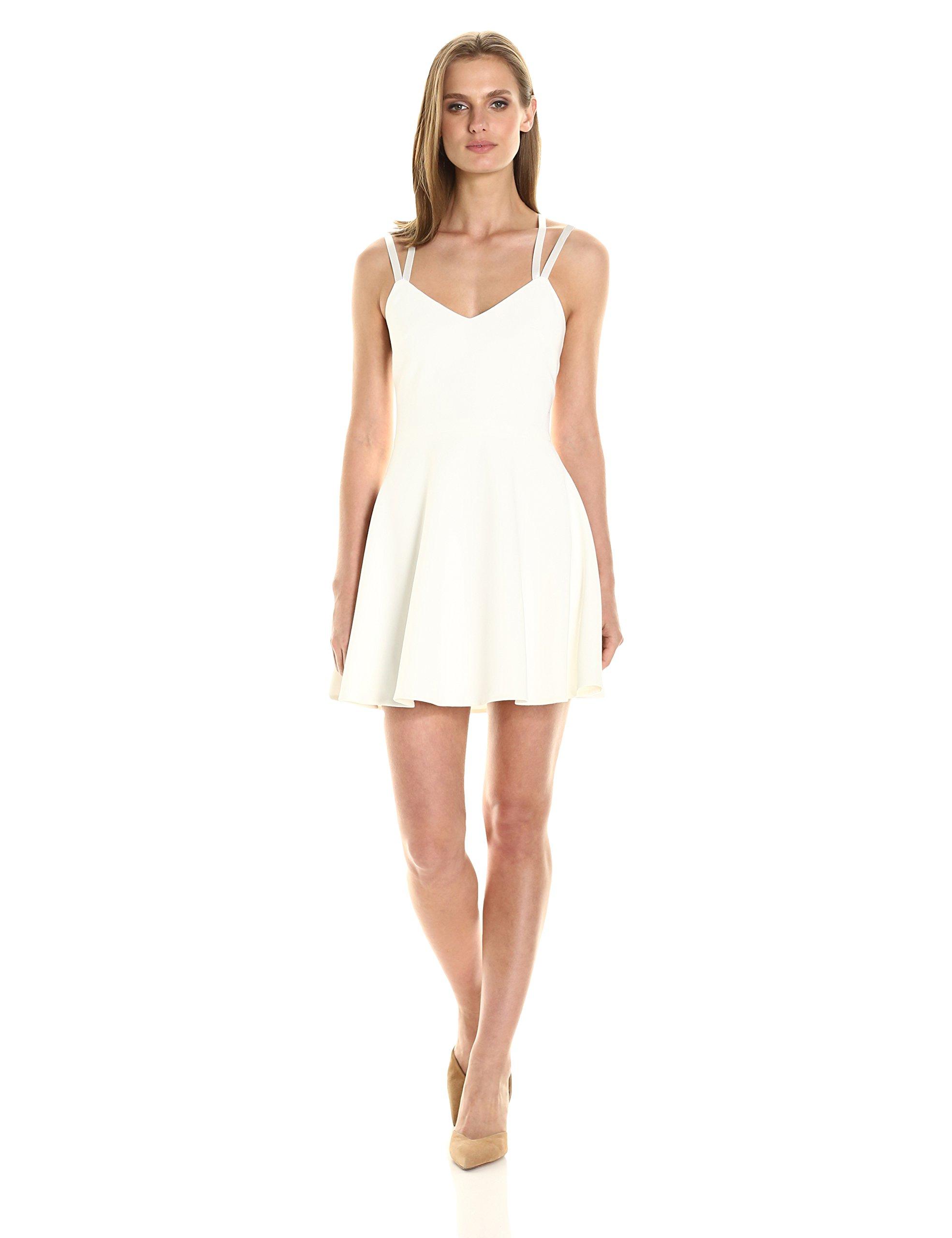 French Connection Women's Whisper Light Sleeveless Strappy Stretch Mini Dress, Summer White, 6
