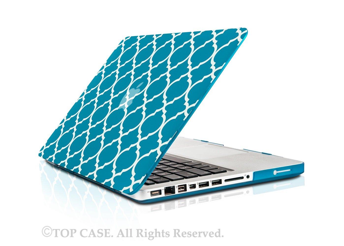"Keyboard Cover LCD for Macbook Pro 15/"" Model A1286 Aqua Blue Quatrefoil Case"