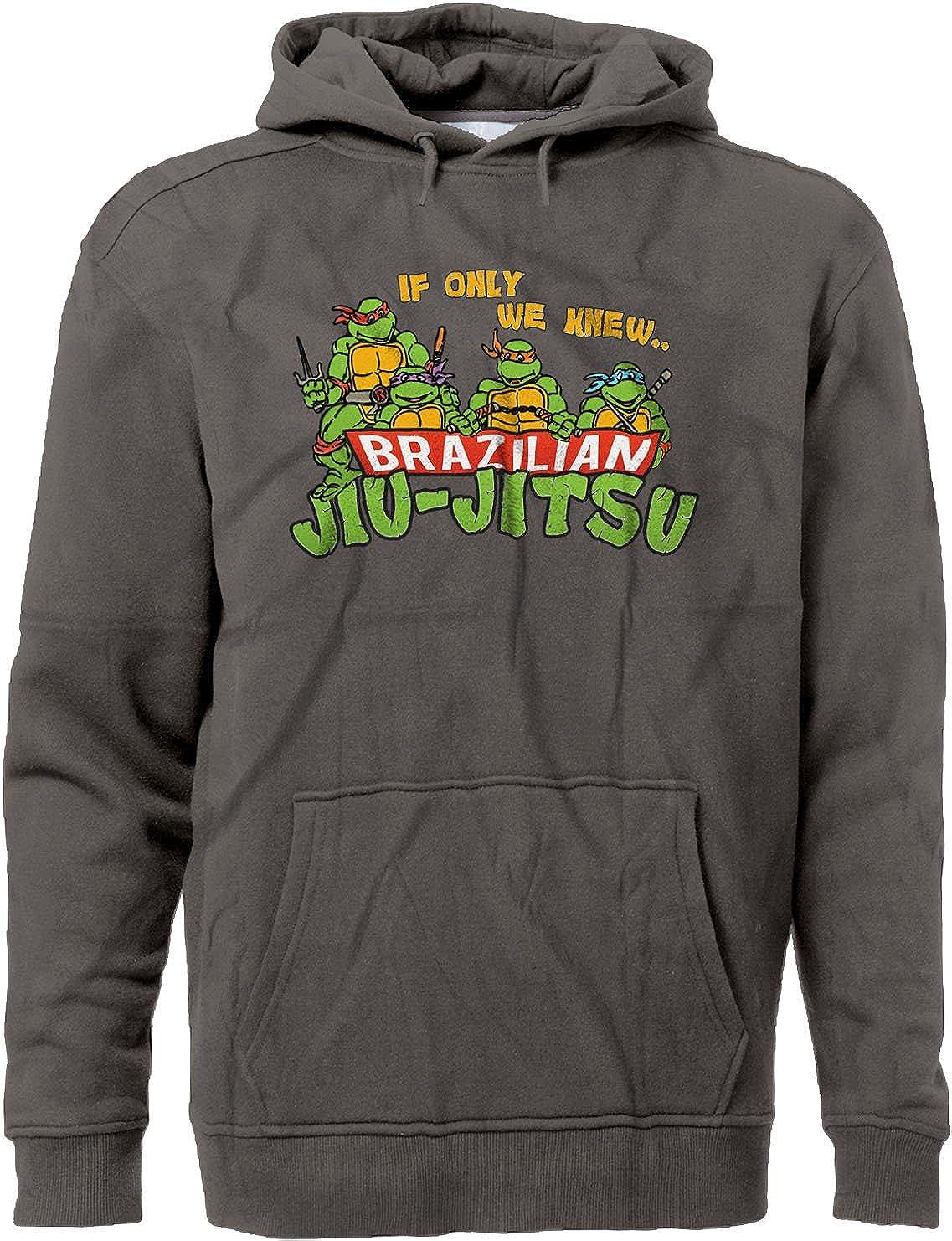 BSW Mens If Only We Knew Brazilian Jiu-Jitsu TMNT MMA Premium Hoodie