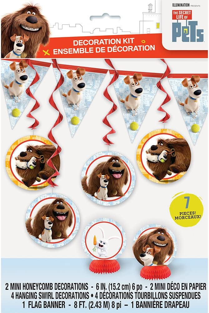 12 X THE SECRET LIFE OF PETS CUPCAKE TOPPERS KIDS BIRTHDAY PARTY DOG