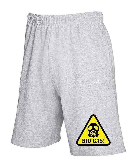 T-Shirtshock - Pantalones deportivos cortos TM0495 bio gas alert, Talla XXL: Amazon.es: Ropa y accesorios