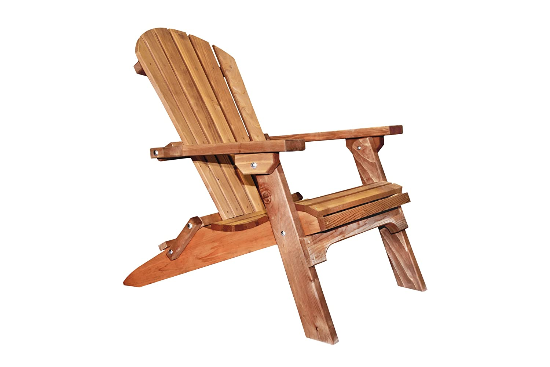 Amazon.com: Montana Woodworks Montana Collection Western Red Cedar Folding Adirondack  Chair, Exterior Finish: Kitchen U0026 Dining