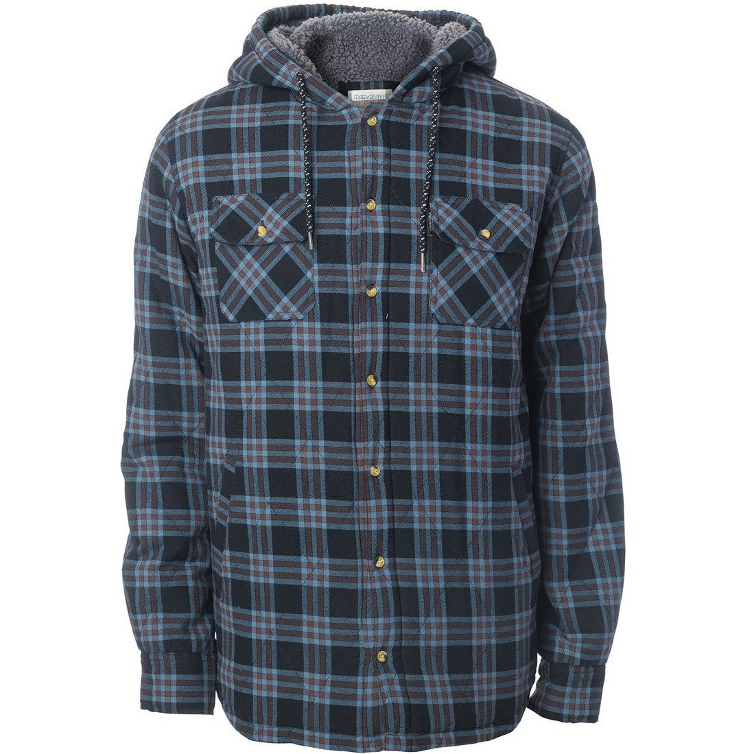 Rip Curl Sherpa Hooded Shirt Small Black by Rip Curl