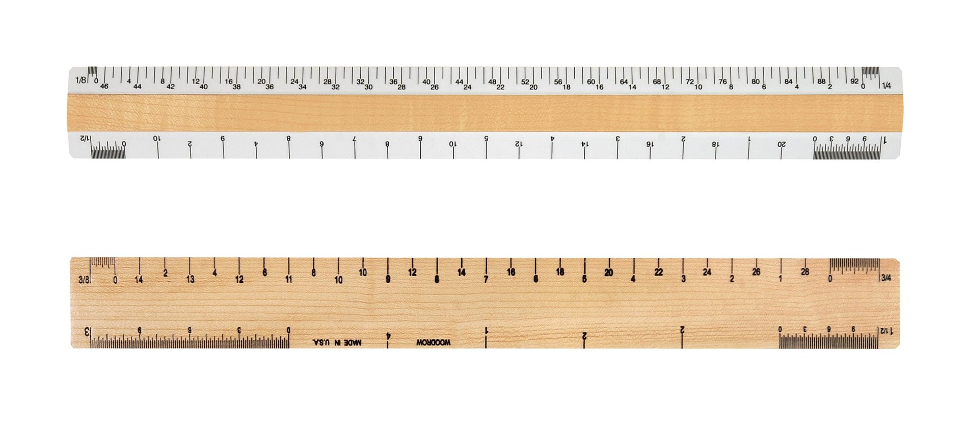 Woodrow 12'' Architectural 2 Bevel Wood Ruler