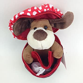 Amazon Com Dog In Cupcake Valentines Day Plush Gift Card Holder