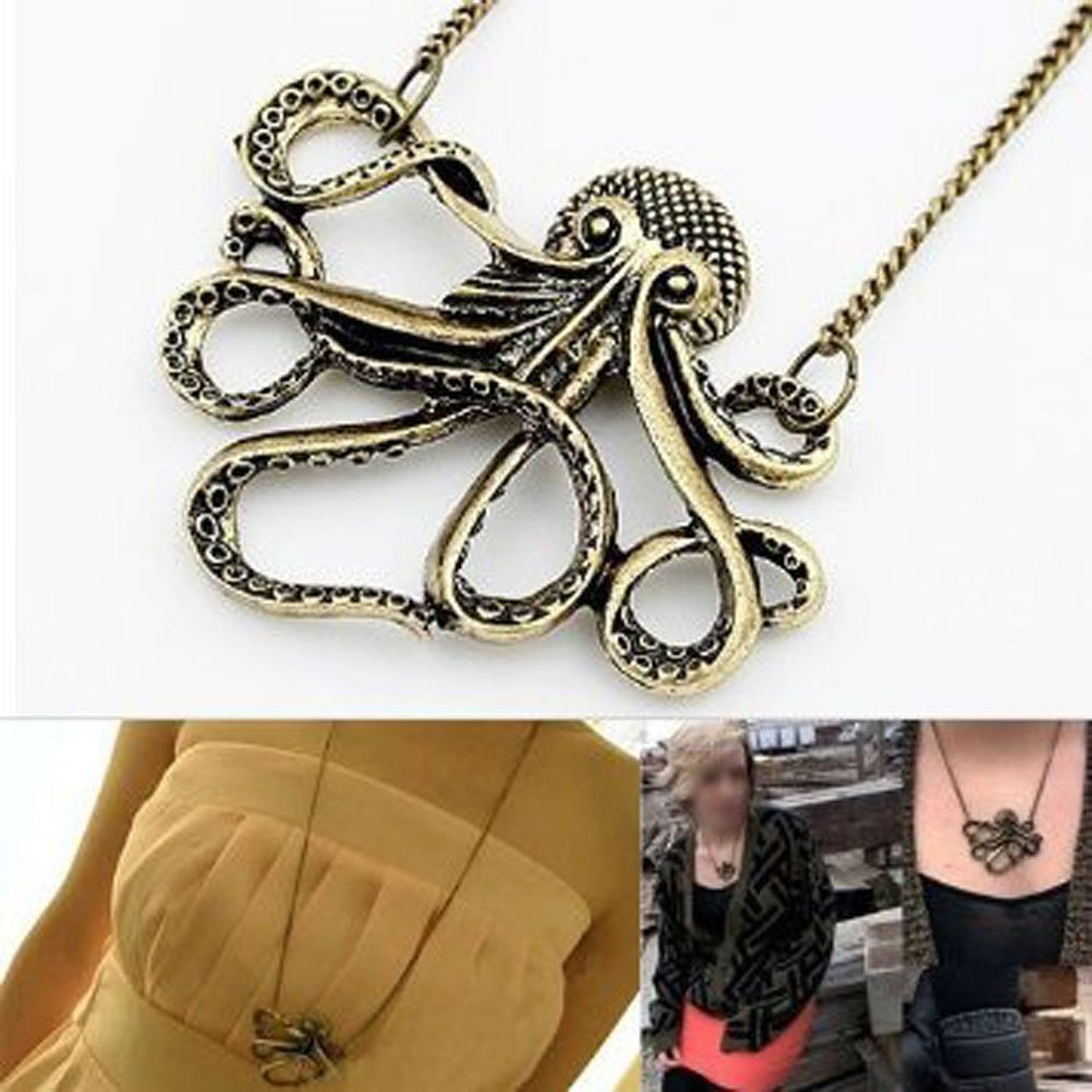 pendant octopus img ventura necklace brass products sea things