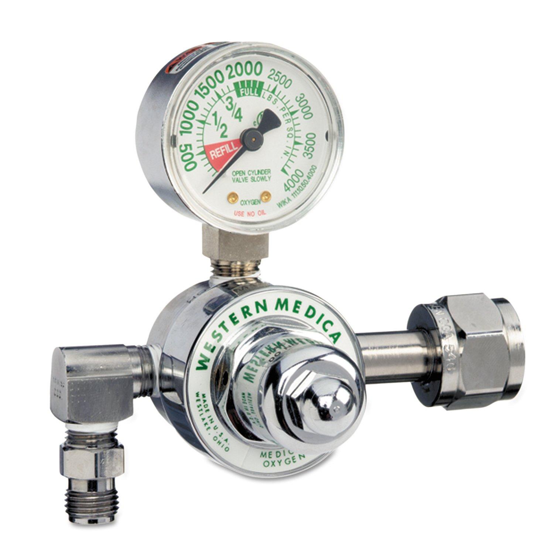 3,000 psi 312-M1-540-P Western Enterprises M1-540-P M1 Series Preset Pressure Gauge Regulators Oxygen CGA540 Nut//Nipple