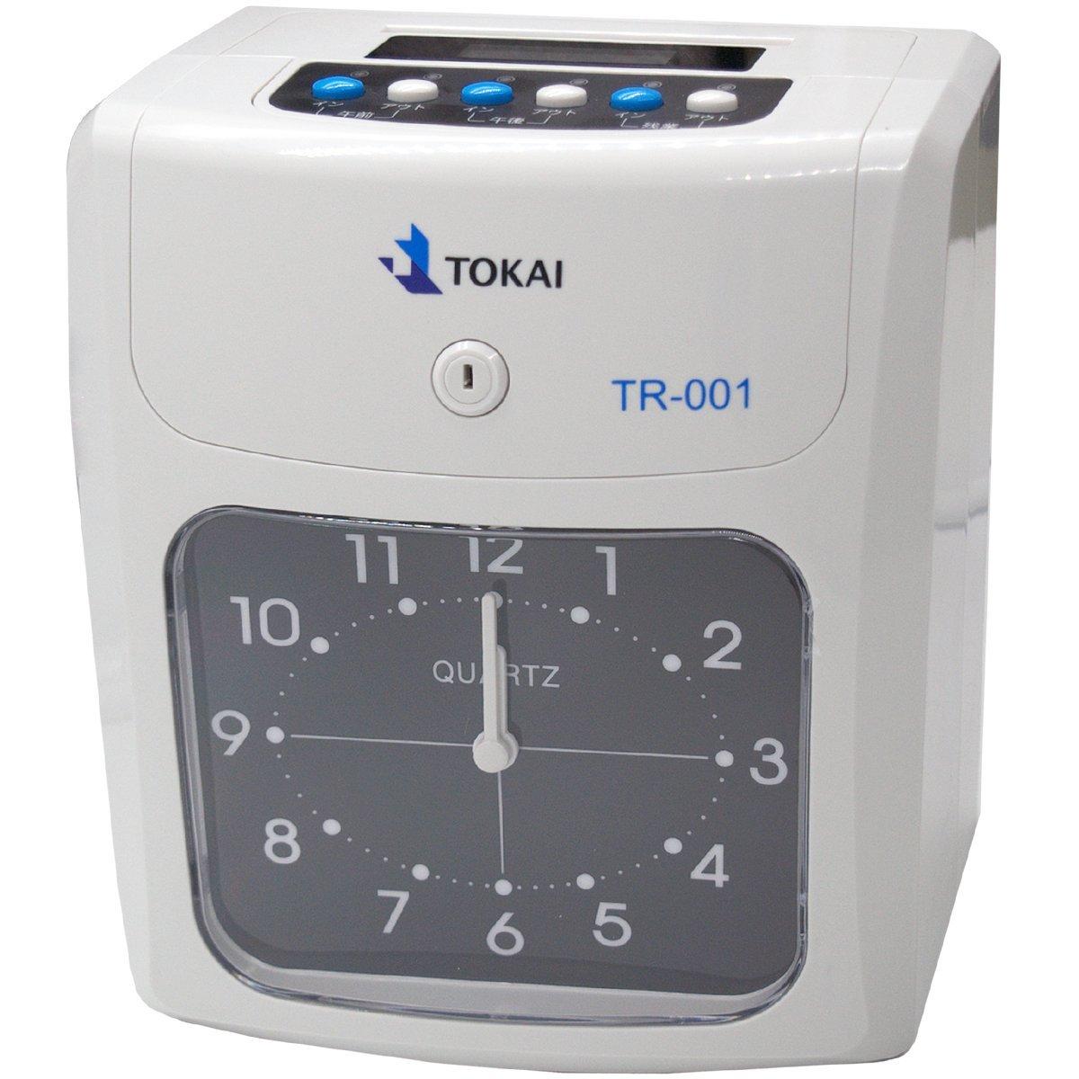TOKAI タイムカードレコーダー 6欄印字可能 両面印字モデル タイムカード50枚付き TR-001 B013SXFP96