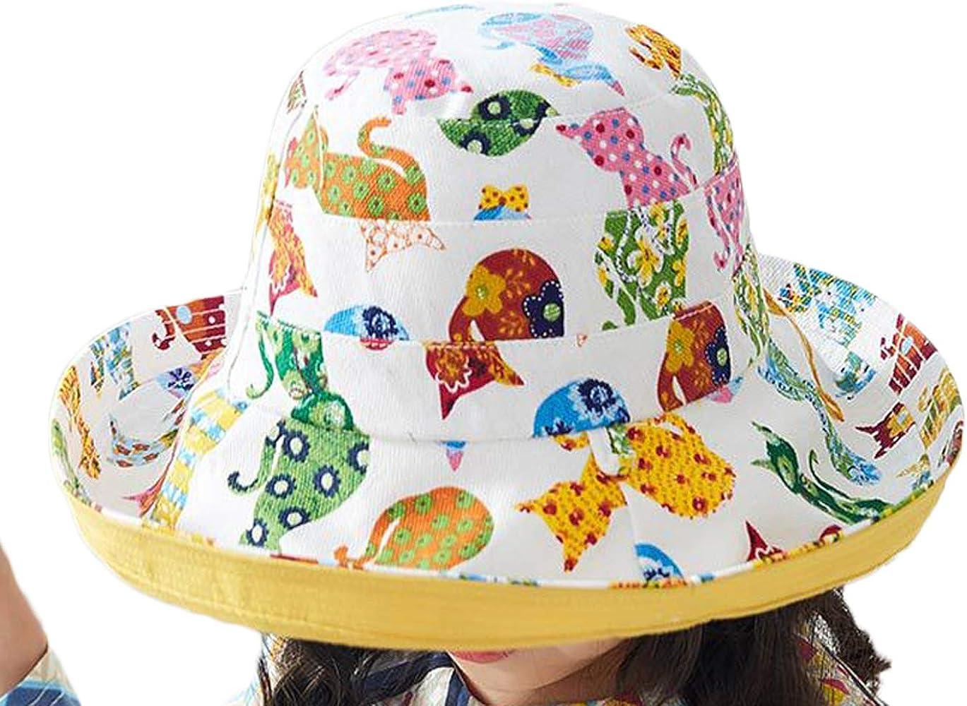 Niñas Sombreros Sol Sombreros De ala Ancha Sombreros Cubo Verano ...