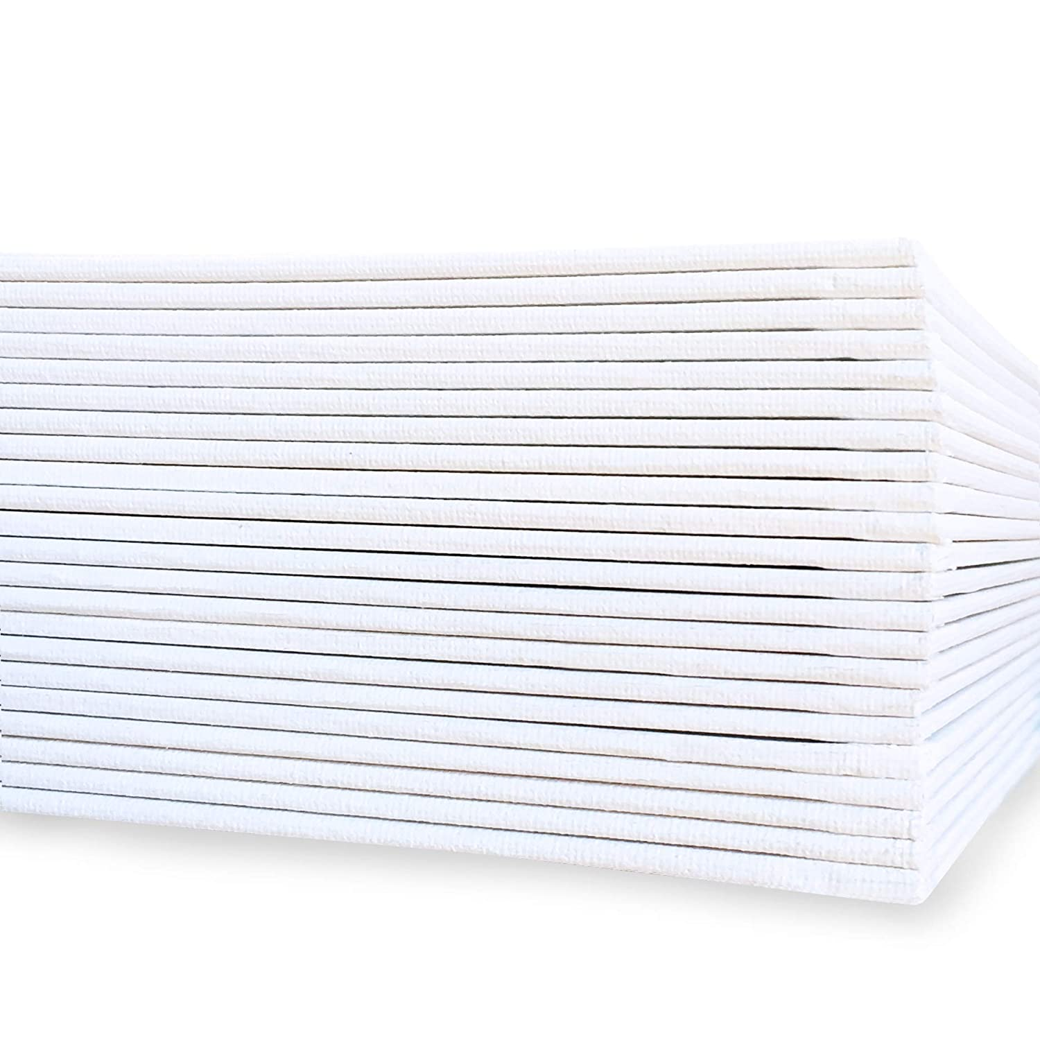 MILO Bulk Set of 24 12x12 inch Canvases Panel Boards for Painting Ready to Paint Art Supplies White Blank Artist Board 12 x 12 24 Pack Canvas Panels