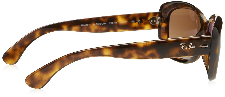 8643882c119 Amazon.com  Ray-Ban Women s Jackie Ohh Polarized Rectangular Sunglasses  LIGHT HAVANA 58 mm  Clothing