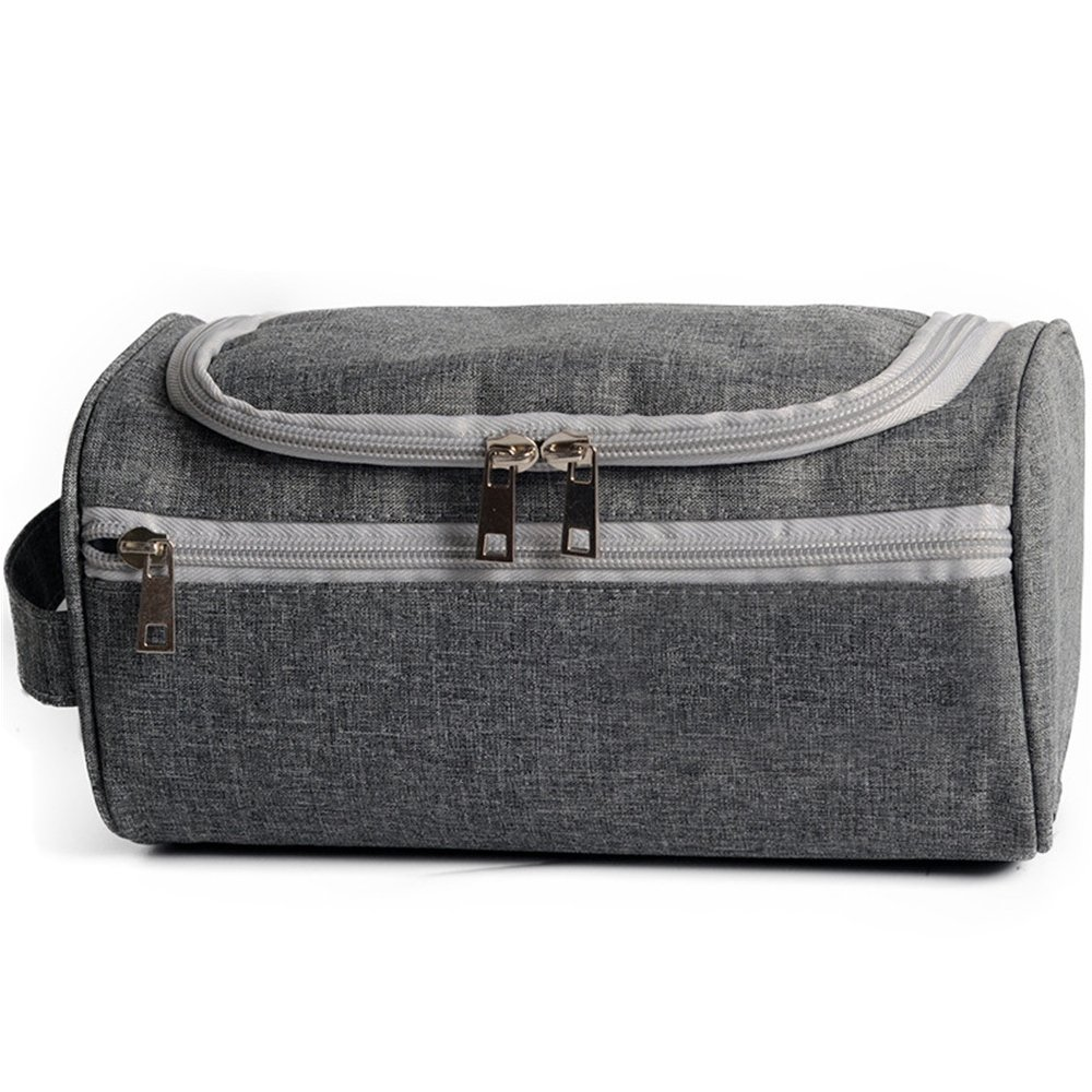 Travel Toiletry Bag for Men、didihou防水小型軽量一泊旅行トイレタリーオーガナイザーfor 10x6x5.5 Inch グレー B07D4BPJB4