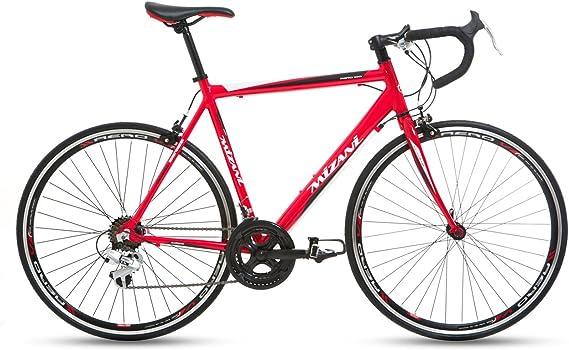 Mizani - Bicicleta de Carretera (híbrida, de montaña), Color Rojo ...
