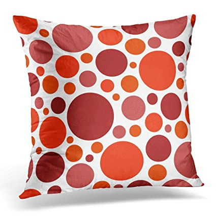 Amazon UPOOS Throw Pillow Cover White Round Color Red Circle Stunning Red Round Decorative Pillows