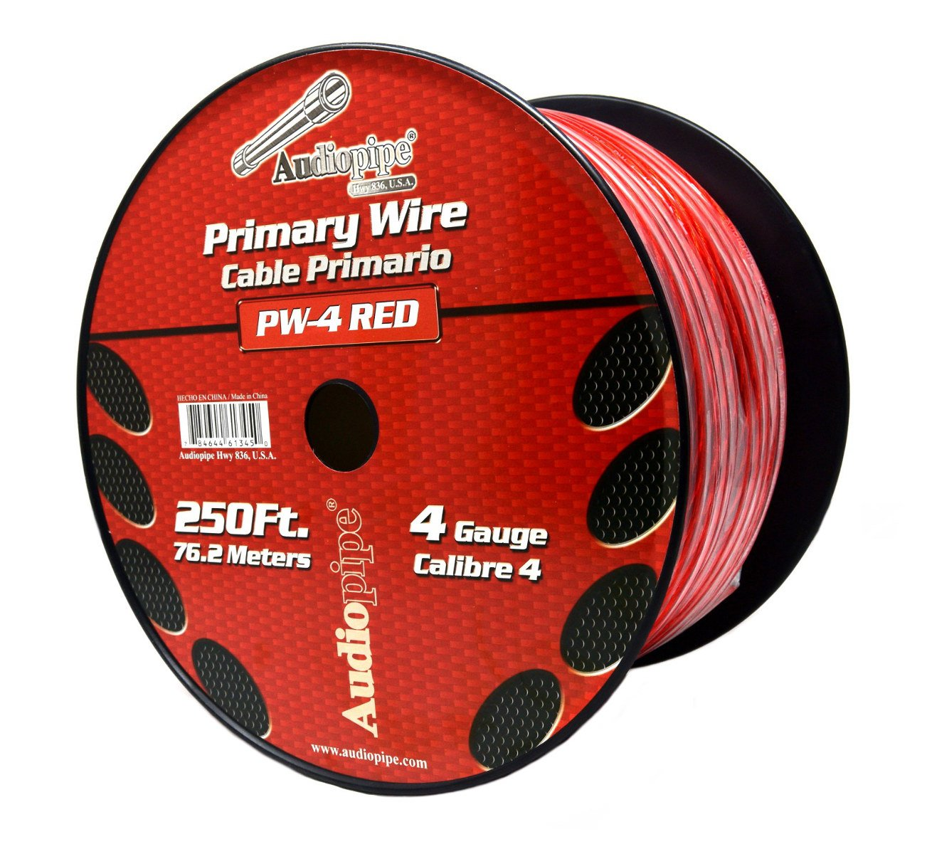 4 GA RED POWER WIRE PRIMARY GROUND 250FT COPPER MIX CABLE CAR AUDIO AMPLIFIER