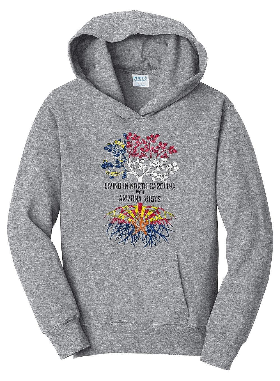 Tenacitee Girls Living in North Carolina with Arizona Roots Hooded Sweatshirt