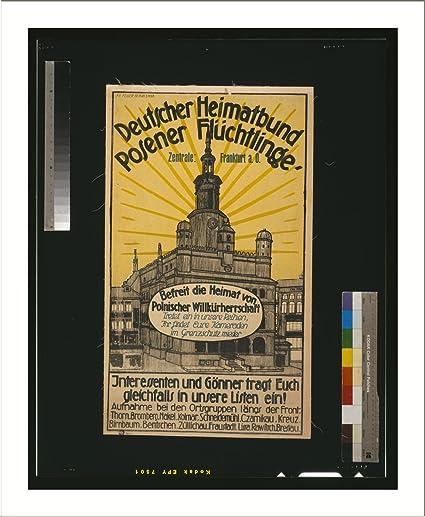 Historic Print L Deutscher Heimatbund Posener Flüchtlinge