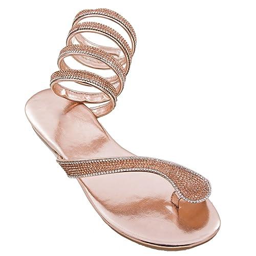Toocool - Scarpe donna sandali ciabatte infradito gioiello strass schiava  nuove C05  Amazon.it  Scarpe e borse d3000ab56f4