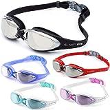 Swim Elite Gafas de Natación Expertopor - Anti Niebla - Hermético - Ajustable - 100% Garantía De Devolución De Dinero - Gafas de Natación Para Adultos Con Visión De 180 Grados - Lo Mejor Para Hombres, Mujeres, Niños y Jóvenes de Mas de 10 Estuche Protector Premium