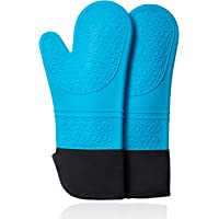 Chryztal Silicone Oven Mitts with Quilted Liner