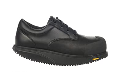 MBT Unisex Omega Safety Work Shoe Black Leather 41 Medium