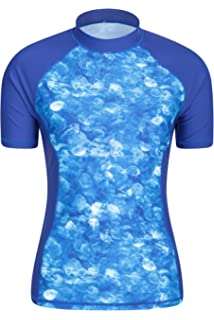 68de6899a3a42 Mountain Warehouse Womens Patterned Rash Vest - UPF50+ Sun Protection, Short  Sleeve…