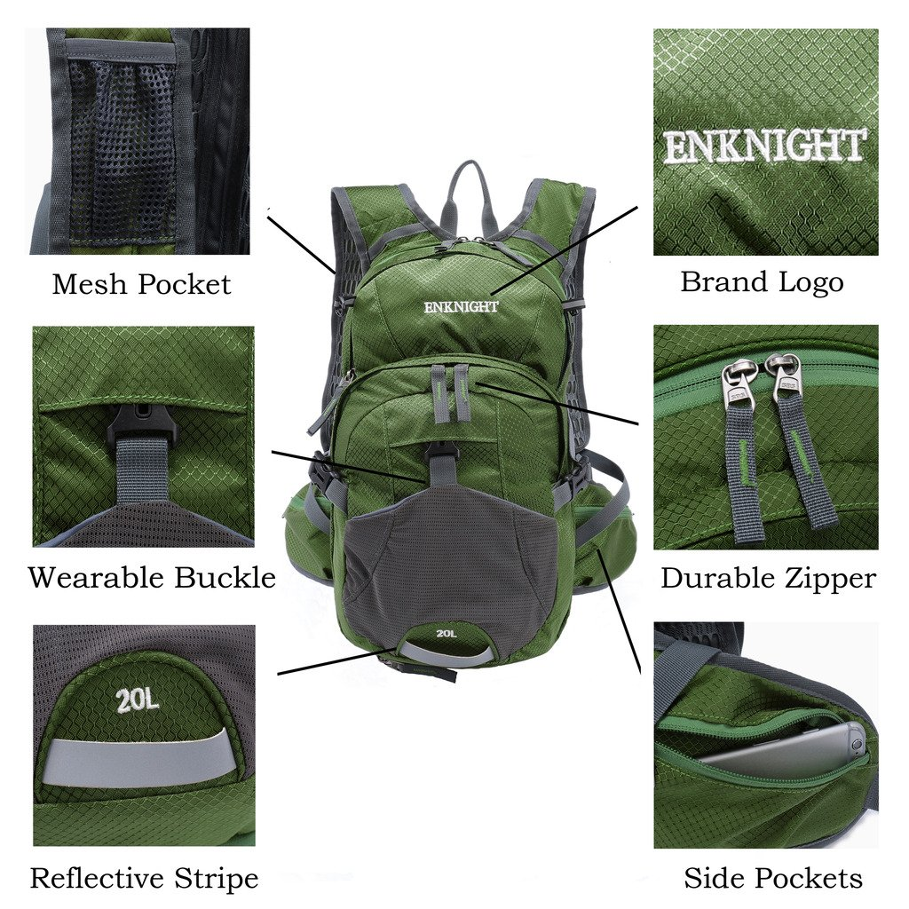 ENKNIGHT 20L Hydration Pack Waterproof Cycling Backpack Hiking Traveling  Running ENKLLB074-CB01 d70a675f25